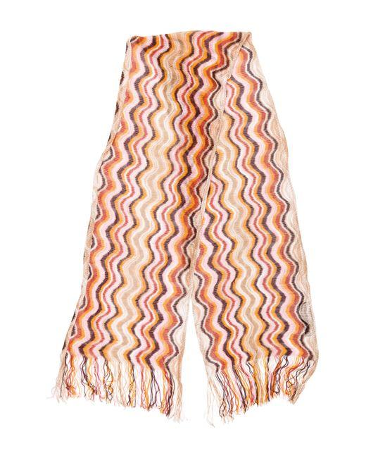 Lyst Missoni Pattern Open Knit Scarf Orange In Orange