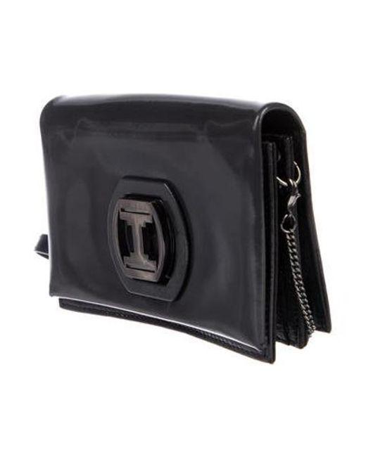 bb358a3708 ... Halston Heritage - Metallic Mini Patent Leather Crossbody Bag Silver -  Lyst ...