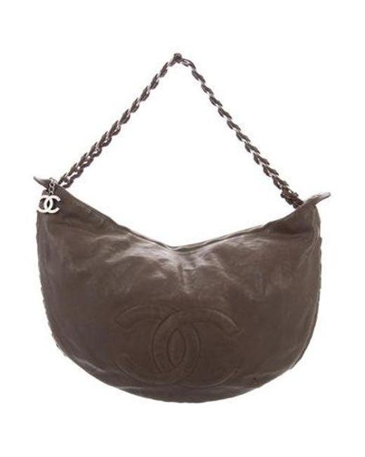 59624b6b2f18 Chanel - Metallic Modern Chain Hobo Brown - Lyst ...