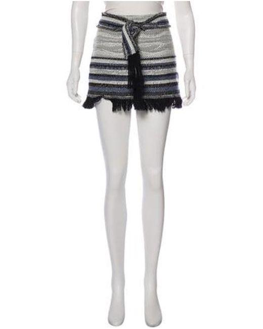 aeaf0432b 10 Crosby Derek Lam - White Fringe-accented Mini Skirt - Lyst ...