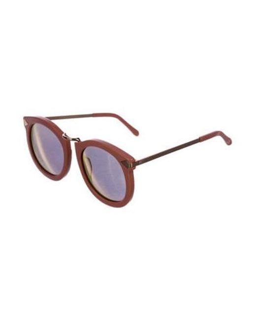 e27fa2b98a4 ... Karen Walker - Metallic Super Lunar Mirrored Sunglasses Pink - Lyst ...