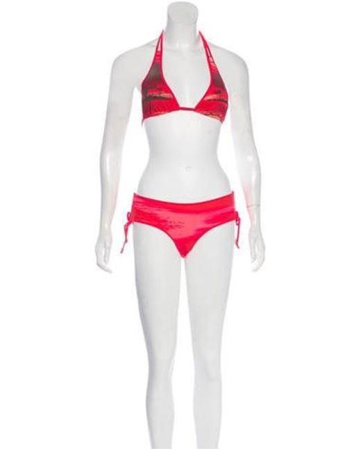 f2e66ba31a9 Adidas By Stella McCartney - Multicolor Printed Two-piece Swimsuit W/ Tags  Coral ...