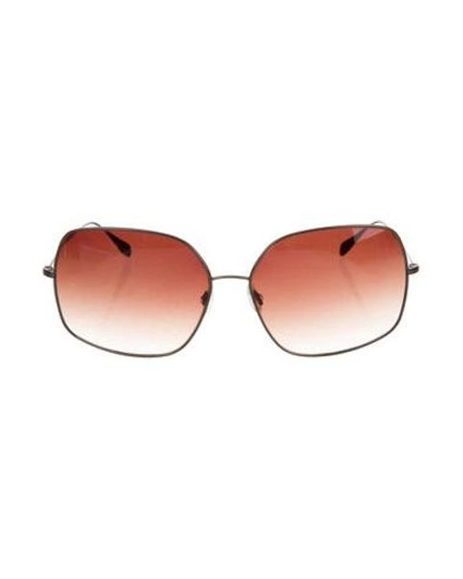 16747fe4cc4ce Oliver Peoples - Metallic Square Oversize Sunglasses Brass - Lyst ...