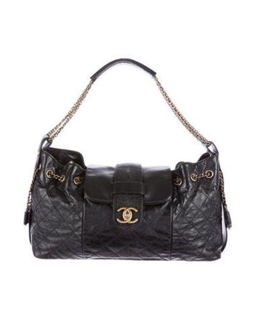 7319ba049e3a2f Chanel - Metallic Bindi Stingray Flap Bag Black - Lyst ...