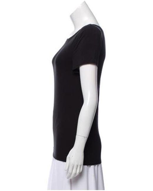 fc74ebc5896f ... Alice + Olivia - Black Structured Short Sleeve Top - Lyst ...
