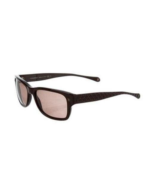 4e52f923523 ... Chanel - Metallic Textured Cc Sunglasses Brown - Lyst ...
