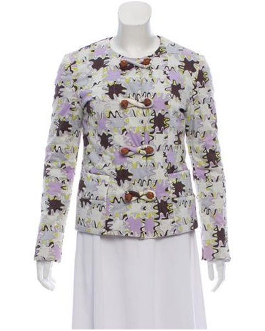 9f386a2141b5 Emilio Pucci - White Printed Quilted Jacket Set - Lyst ...