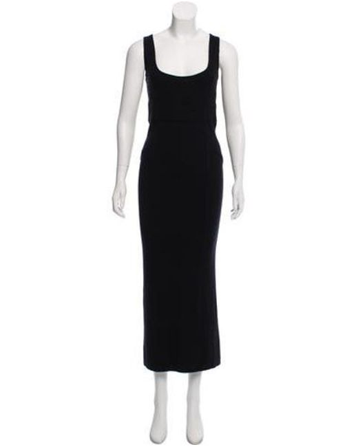 Lyst Opening Ceremony Sleeveless Knit Maxi Dress In Black