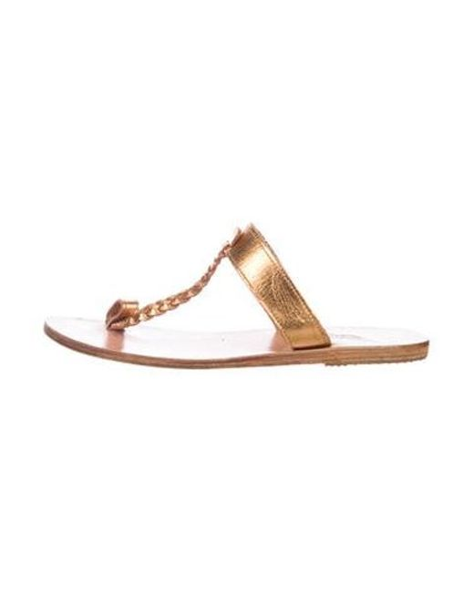 8016d767253c Ancient Greek Sandals - Metallic Leather Thong Gold - Lyst ...