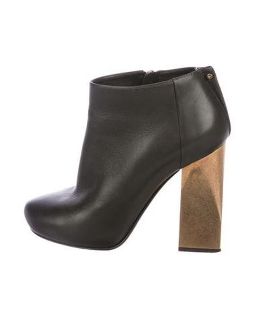 705ce6e1c986 Lanvin - Metallic Leather Ankle Boots Gold - Lyst ...