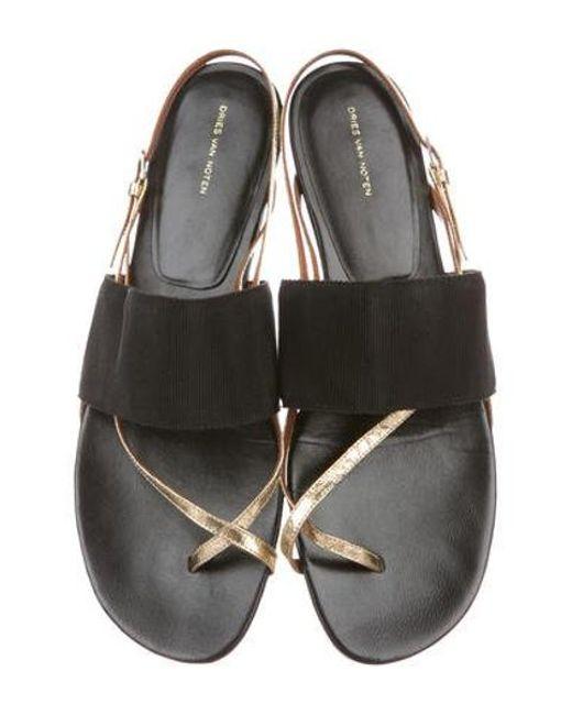 a8811c537d ... Dries Van Noten - Metallic Thong Sandals - Lyst ...