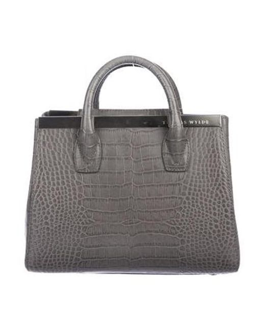 6daca9835d Thomas Wylde - Metallic Embossed Leather Crossbody Bag Silver - Lyst ...