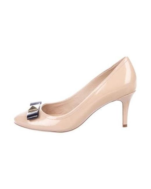 b35728bda262 Kate Spade - Natural Patent Leather Mary Jane Pumps Beige - Lyst ...