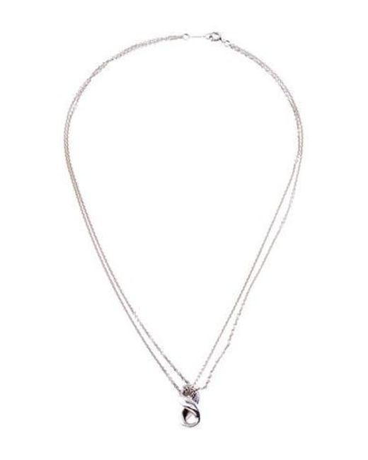 feb85788a4ac Lyst - Tiffany   Co Infinity Pendant Necklace Silver in Metallic