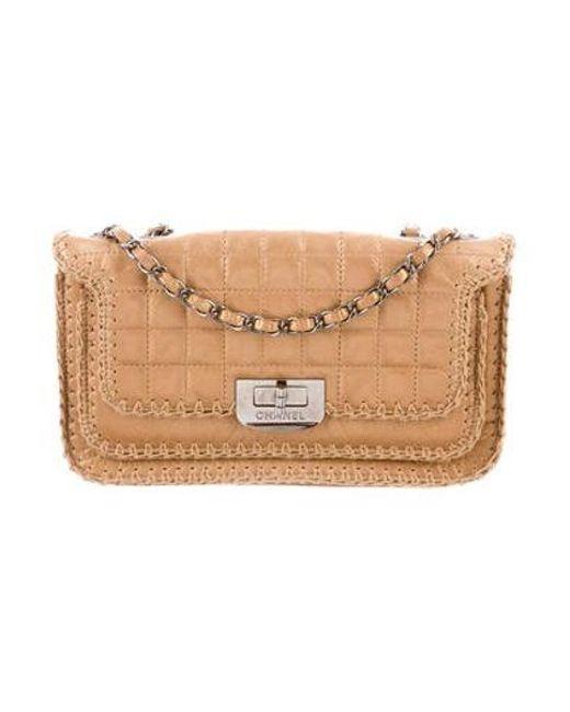 11d4c3eb94e9 Chanel - Metallic Square Quilt Reissue Flap Bag - Lyst ...