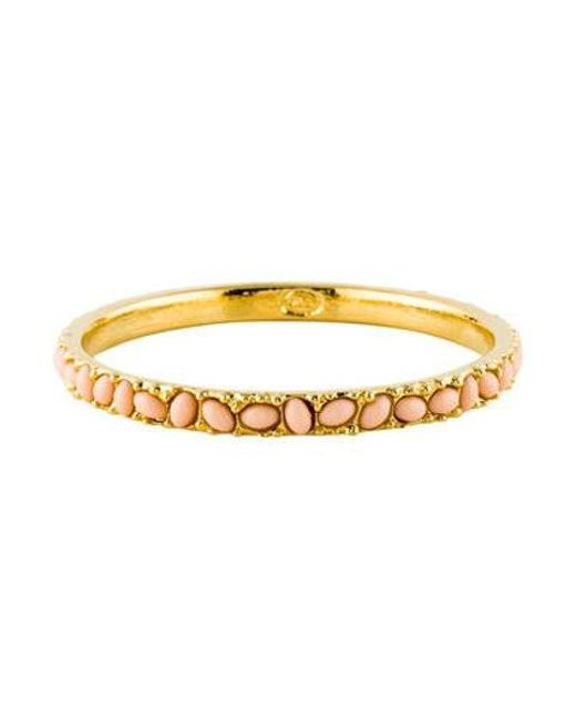 Kenneth Jay Lane - Metallic Resin Cabochon Bracelet Gold - Lyst