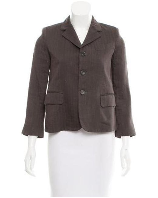 Marc Jacobs - Brown Structured Pinstripe Blazer - Lyst