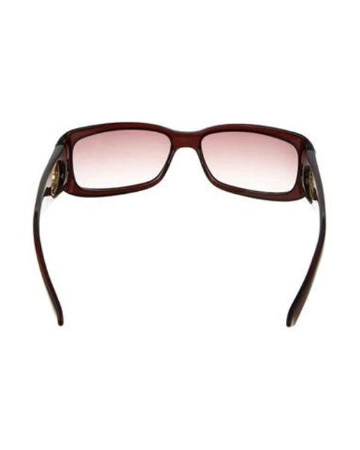 e2ecc140322 ... Dior - Metallic Narrow Gradient Sunglasses Brown - Lyst ...