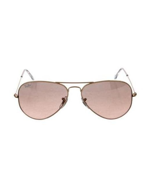 6979141550 Ray-Ban - Metallic Large Aviator Sunglasses Gold - Lyst ...