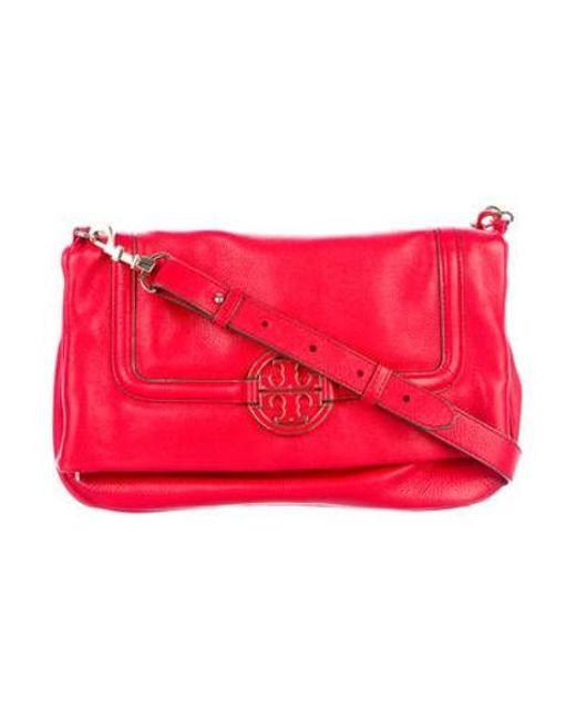 e43e547c5226 Tory Burch - Metallic Amanda Fold-over Messenger Bag Gold - Lyst ...
