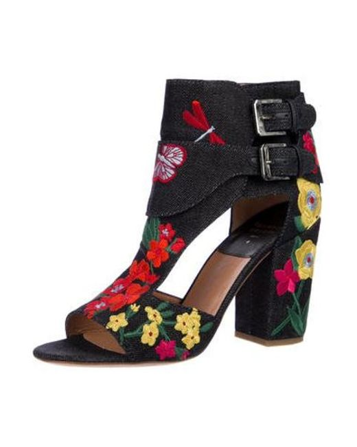 1dbd3d2a157 ... Laurence Dacade - Blue Embroidered Denim Sandals - Lyst ...