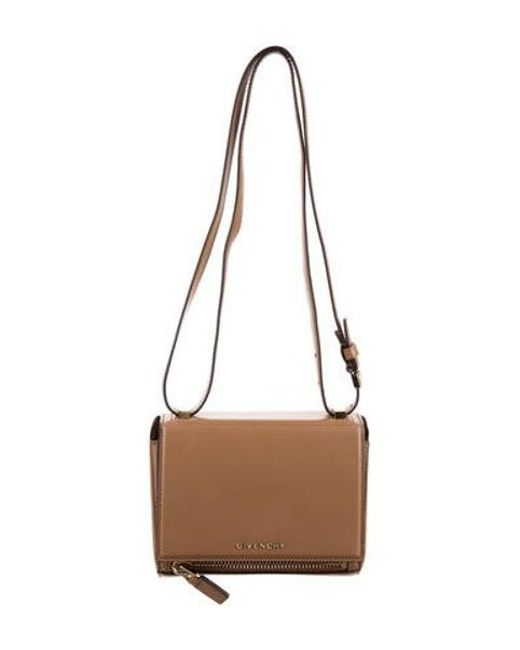 Givenchy - Metallic Mini Pandora Box Bag Tan - Lyst ... ff1f79bc2a8c9