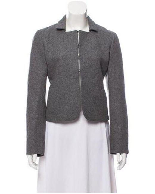 0491d06ccde Miu Miu - Gray Miu Wool Evening Jacket Grey - Lyst ...