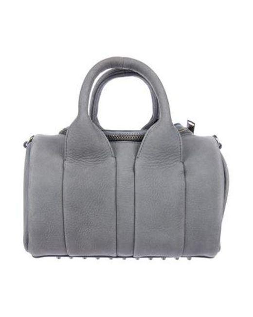 05c54e80d3b8 Alexander Wang - Metallic Mini Rockie Duffel Bag Denim - Lyst ...