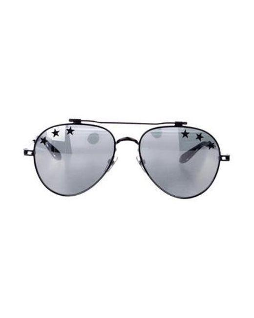 5fea901f8f616 Givenchy - Black Stars Mirrored Aviator Sunglasses for Men - Lyst ...