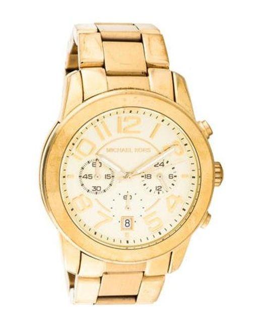 106ffaec437a Michael Kors - Metallic Mercer Watch - Lyst ...