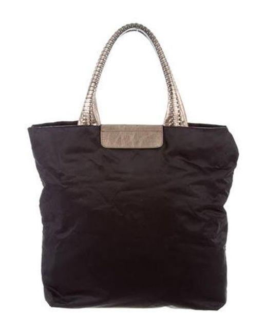 Ferragamo - Metallic Leather-trimmed Nylon Tote Black - Lyst ... af552d78ab9b1