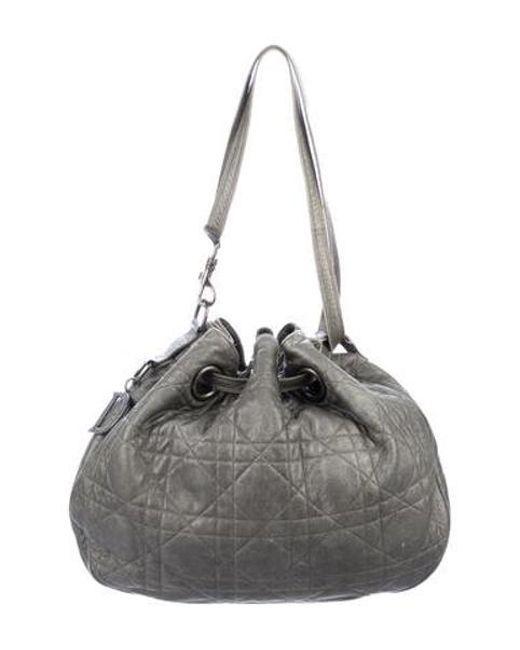 8eecb9a1b26a Dior - Metallic Cannage Drawstring Bag - Lyst ...