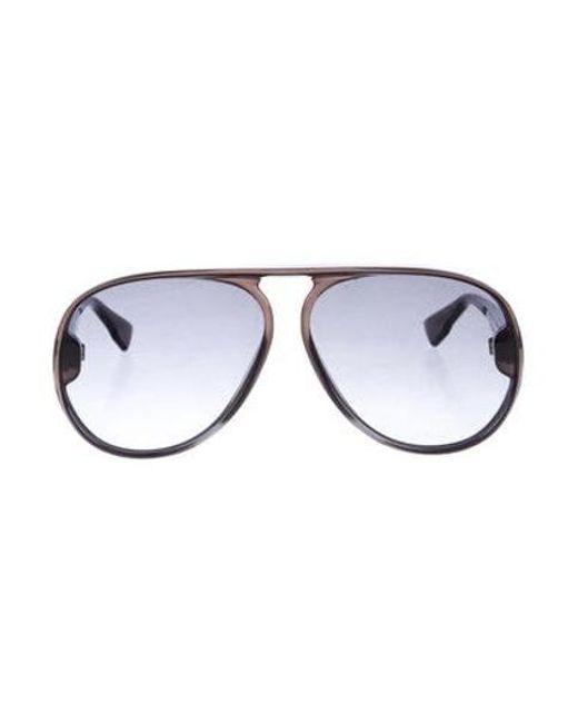 eb8bdc6869 Dior - Metallic Polarized Aviator Sunglasses Black - Lyst ...