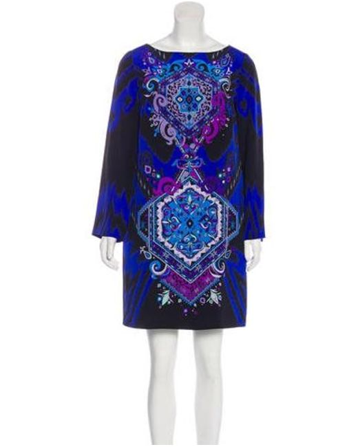 a3306e5d7f4c Emilio Pucci - Purple Silk Mini Dress Indigo - Lyst ...