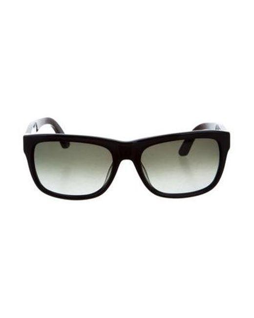 Ferragamo - Black Acetate Square Sunglasses W/ Tags - Lyst