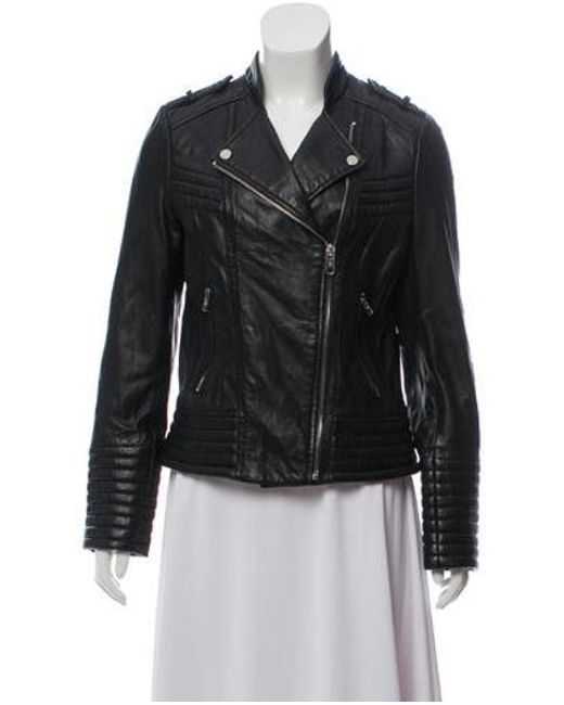 MICHAEL Michael Kors - Black Michael Kors Leather Moto Jacket - Lyst