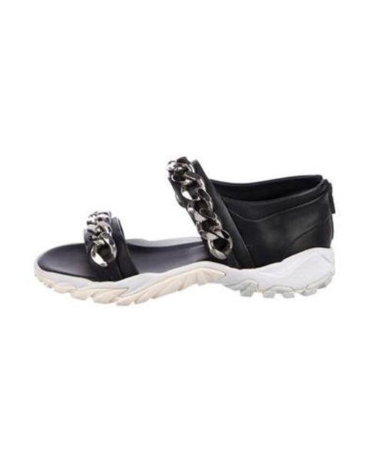9007f50c4f71 Givenchy - Metallic Chain-detail Slide Sandals Black for Men - Lyst ...