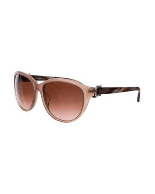 ferragamo natural gradient cat eye sunglasses tan lyst