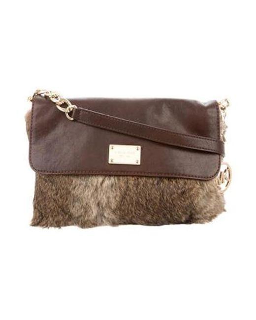 510eeeca47a9 Michael Kors - Metallic Fur Crossbody Bag Brown - Lyst ...