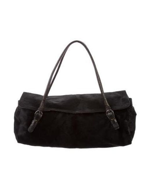 2abc21abe428 Miu Miu - Black Miu Ponyhair Shoulder Bag - Lyst ...
