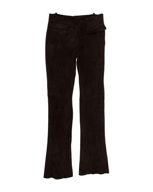 Emilio Pucci - Suede Mid-rise Pants Brown - Lyst