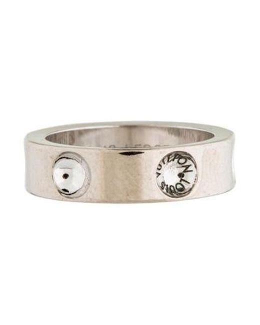 Louis Vuitton - Metallic Empreinte Ring White - Lyst