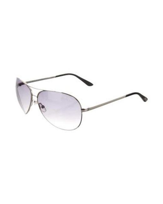 beb093dbeb4c ... Tom Ford - Metallic Charles Aviator Sunglasses Silver - Lyst ...