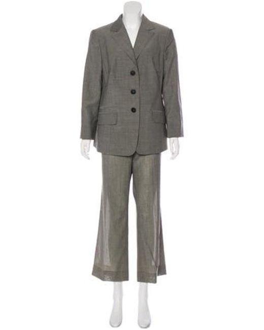 Akris - Gray Structured Wool Pantsuit Grey - Lyst