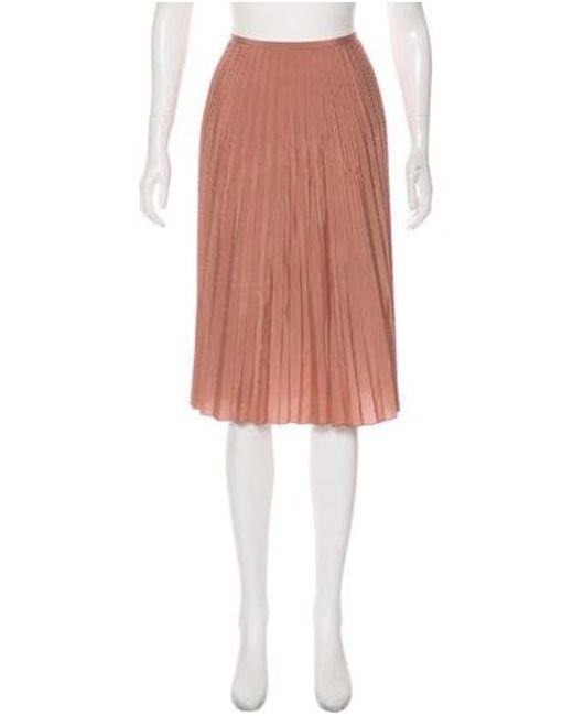 576e4f22e9 TSE - Pink Silk Knee-length Skirt Multicolor - Lyst ...
