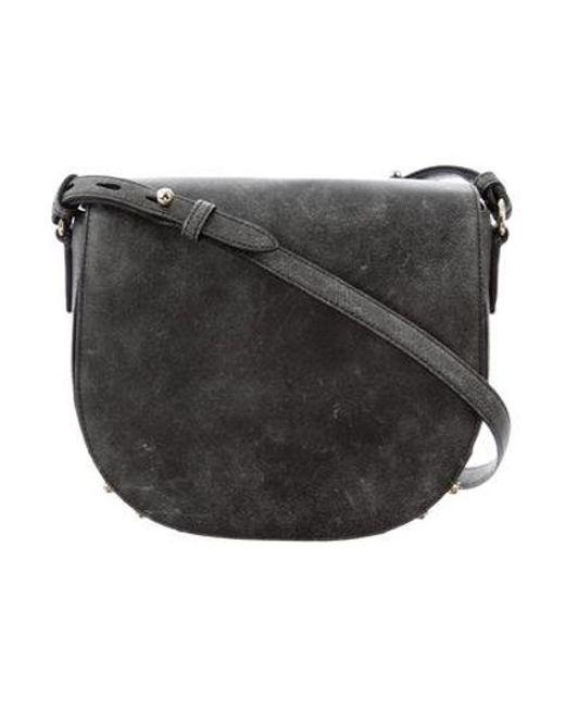f4dfa4bc0 Alexander Wang - Metallic Leather Lia Messenger Bag Grey - Lyst ...