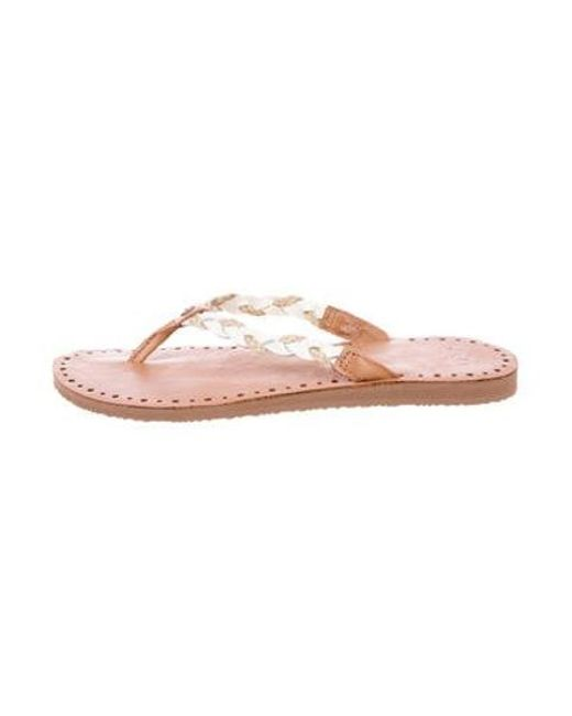 1b8c158ba27925 Ugg - Natural Leather Thong Sandals Tan - Lyst ...