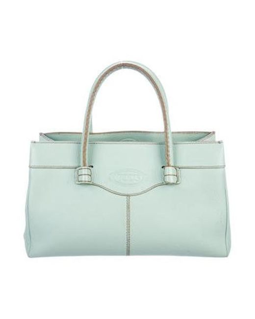 88b82af4e5b Lyst - Tod'S Grained Leather Tote Blue in Metallic