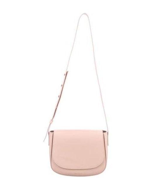 b0734607fbe0 Mansur Gavriel - Metallic Leather Crossbody Bag Pink - Lyst ...
