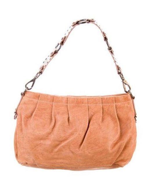 1b0e65707fe0 Miu Miu - Natural Miu Leather Shoulder Bag Tan - Lyst ...